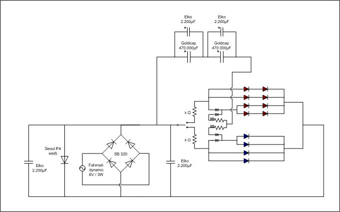 LED-Dynamo-Fahrradschaltplan so realisierbar? - Roboternetz-Forum